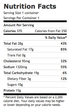 Nutrition Facts and Information for Tomato Cheddar Soup (8 fl oz)